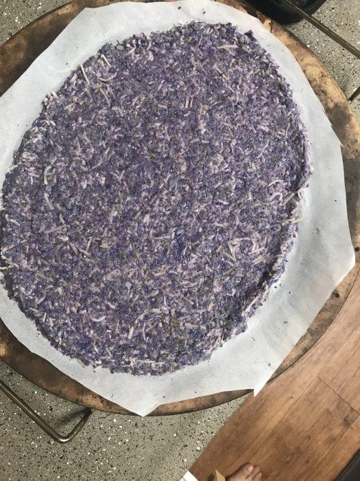 purple pizza