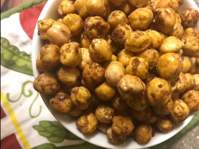 cinnamon brown sugar chickpeas