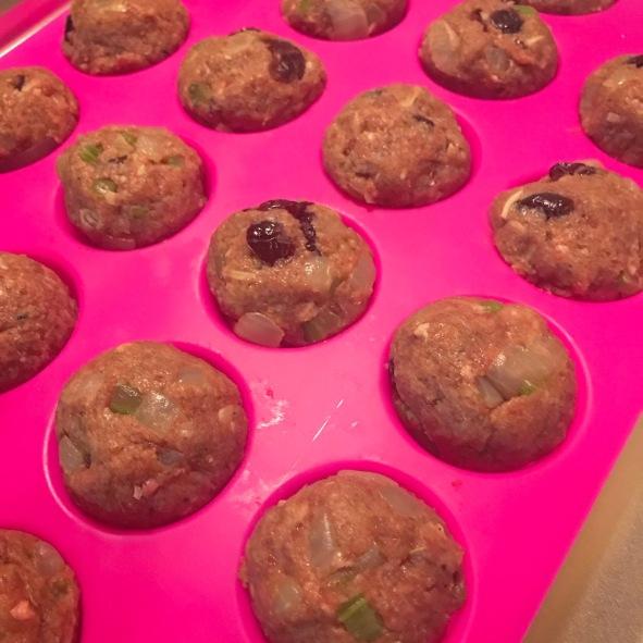 in mini muffin tins!